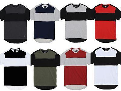 Akademiks Men's New Rule Color Block Chest Pocket Longline T (Block Chest)