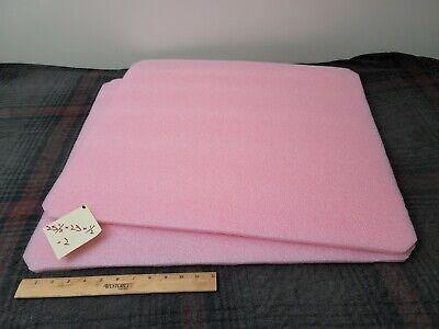 2 Pink Polyethylene Foam Sheets 25-12 X 23 X 12