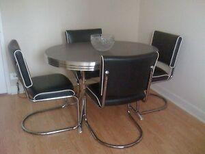 Vintage 50 039 S Chrome Retro 7 Pc Kitchen Dining Table