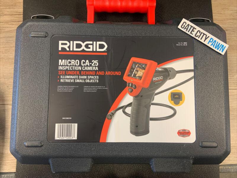 RIDGID MICRO INSPECTION CAMERA INSIDE WALL PLUMBING TOOLS LCD SCREEN CA25