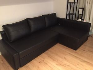 ALL BLACK IKEA SOFA-BED WITH STORAGE