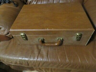 Vintage HOWE Industries USA Hand Tool Case Field Technician Electrician Brown
