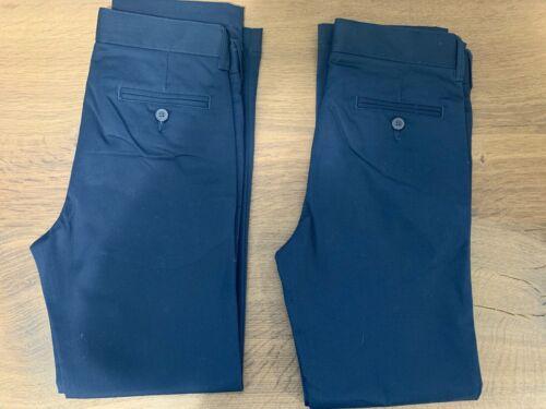 Brand New Set of 2 Lands End Navy Uniform Pants size 8