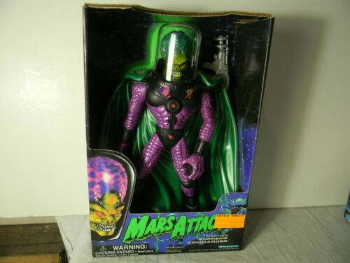 "MARS ATTACKS MARTIAN 12"" SUPREME COMMANDER TRENDMASTERS 1996 MINT IN BOX"