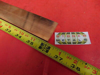 14x 1-12 C110 Copper Bar 36 Long Solid Flat .25 Bus Bar Stock H02