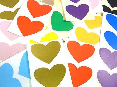 50x37mm Heart Shaped Colour Code Labels, Coloured Sticky Self-Adhesive Stickers Coloured Self Adhesive Labels