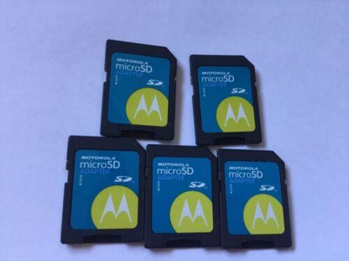 LOT OF 5 Motorola microSD/microSDHC/microSDXC adapter *NO memory cards inside