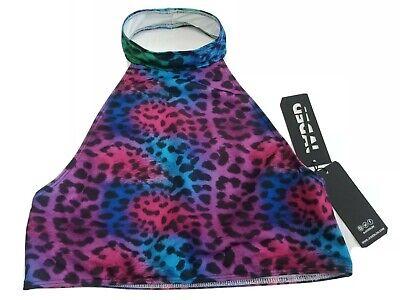 Jaded London Choker Multicoloured Animal Print Bikini or Top Open Back BNWT UK14
