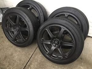"Set of four 17"" wheels with 215/45/17 tires"