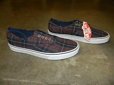 VANS PLAID DRESS BLUES OFF THE WALL VN018BGZP MENS SIZE10 SHOES NEW WITHOUT BOX!