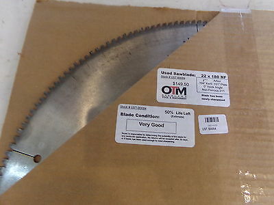22 Saw Blade 22 X 180 Nf 1 Arbor Approx 50 Life Left Ust-b0084 - Used