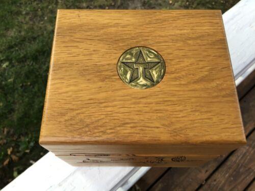 Beautiful Texaco Wood Hinge (4) Coaster Box with Laser Engraved Texaco Airplane