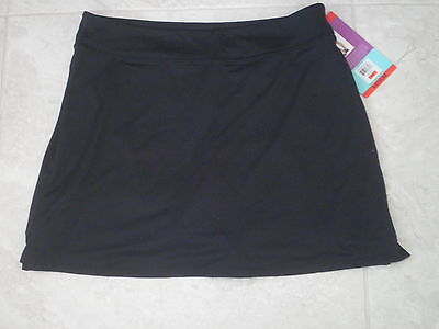 TRANQUILITY COLORADO CLOTHING YOGA GOLF SKORT SKIRT NEW SOLID BLACK Size MEDIUM