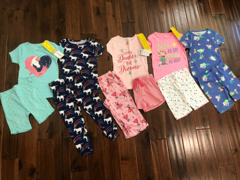 11 Piece Lot Of Baby Girl Summer Pajamas Size 18 Months NWT