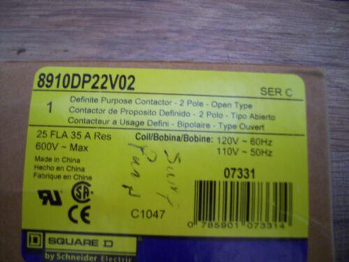 Square D 8910DP22V02 Motor Contactor