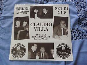 Claudio-Villa-Tutte-Le-Registrazioni-Parlophon-Dal-1948-Al-1952-2xLP-NUOVO