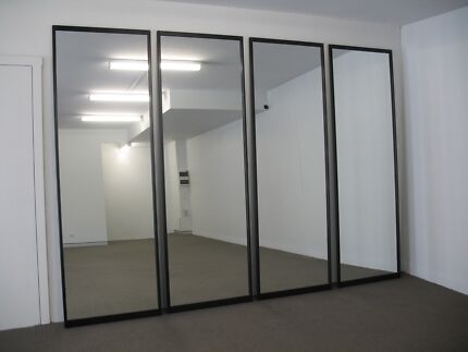 Mirrored doors for built-in wardrobe or partition
