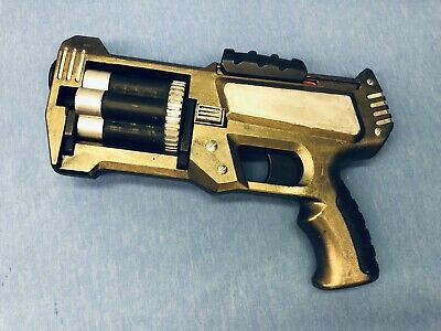 Custom Post Apocalyptic Steampunk Cosplay Prop Dart Gun - Gold / Silver
