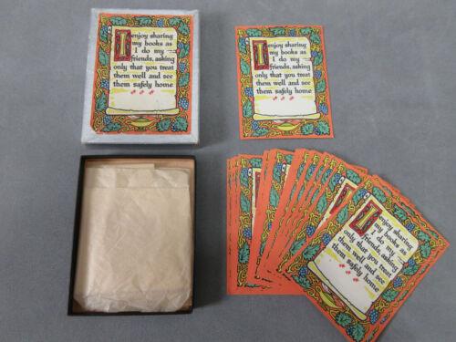 36 Vintage Antioch Bookplates Gummed Labels I Enjoy Sharing My Books Orig Box