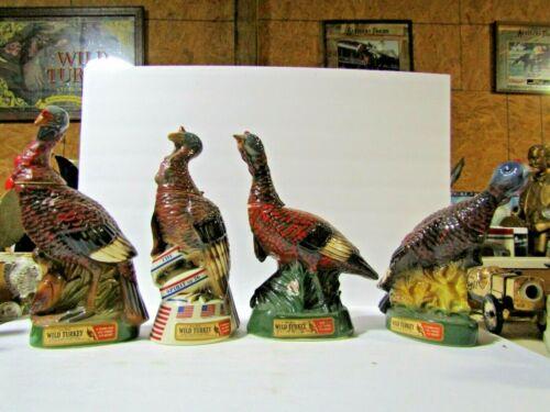 4 Wild Turkey Decanter 1974-1977 #4, #5, #6, #7 Decanter
