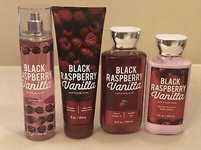 Bath & Body Works Black Raspberry Vanilla Fragrance Mist Body Cream Lotion Wash