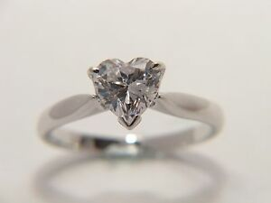 9Ct Gold 1 Ct Luxurious Diamond Solitaire Heart Engagement Ring I-P Free Engrave