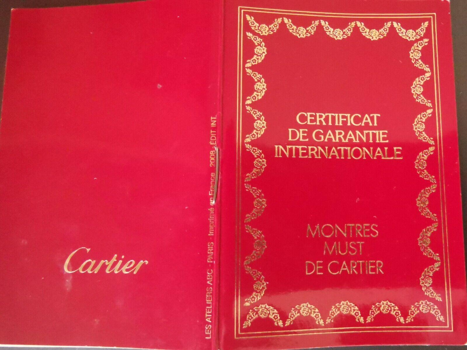Damen Must de Cartier Quartz Uhr mit Box und Papieren