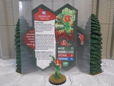 Heroscape Custom Poison Ivy Dbl Sided Card & Figure DC Batman Suicide Squad](Poison Ivy Customes)