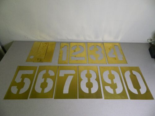 "C.H. Hanson Brass Stencil 13 Piece 10"" Character Size"