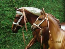 Jaapi BABY BLUE mare /& Foal halter set w//leads fits Breyer traditional models