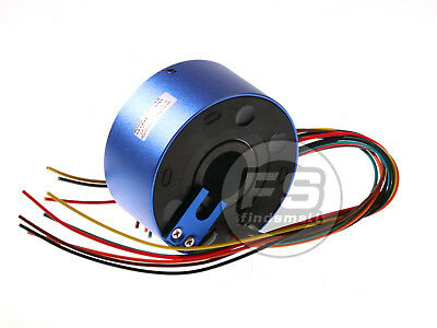 New 6wires 380v Acdc 10a 25.4mm Dia Metal Capsule Conductors Slip Ring Blue