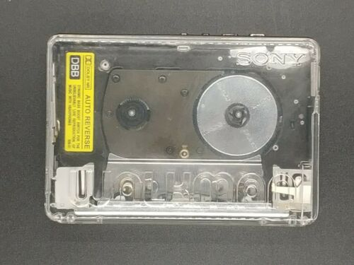 Sony WM-505 Walkman with crystal clear transparent body (like WM-504)