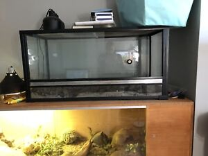 Large reptile tanks; front and top opening