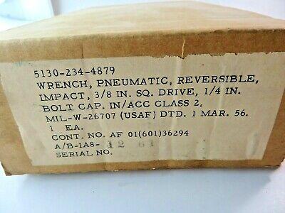 "Military Surplus Pneumatic Wrench Reversible 3/8"" Drive Impact USAF Mar. 56"