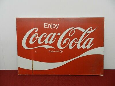 Vintage Metal Enjoy Coca Cola Sign 3`x 2`x 1-1/2""