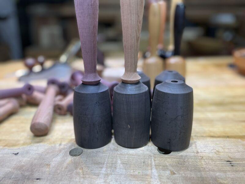 African Blackwood Mallet Blank, Factory Second, Mallet Kit