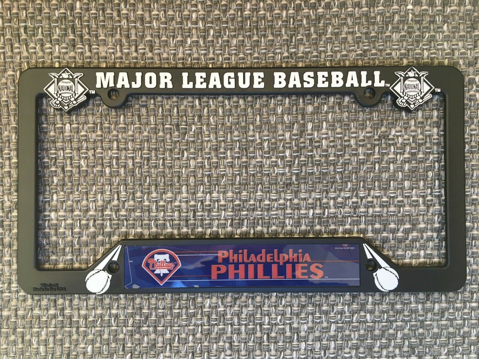 Philadelphia Phillies NEW MLB Black Plastic License Plate Fr