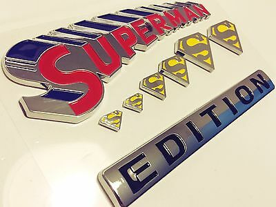 100% SUPERMAN FAMILY EDITION EMBLEM JEEP CAR TRUCK BOAT LOGO DECAL SIGN NEW* 01.