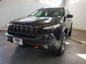 2016 Jeep Cherokee Trailhawk - HEATED SEATS! LEATHER INT.! ALLOY