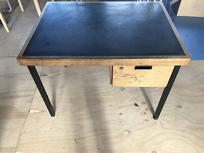 Old Victorian Double School Desk. 1 meter wide by 75 depth