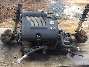 Volkswagen Jetta 2.0 auto complete engine transmission subframe