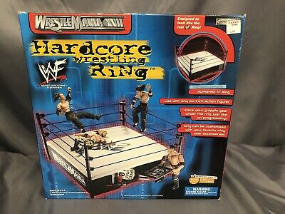 WWE JAKKS Pacific 2000 WWF WRESTLEMANIA XVII Hardcore Wrestling Ring SEALED BOX