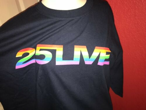 GEORGE MICHAEL - 25 LIVE RAINBOW - 06 NAVY BLUE T-SHIRT -SIZE XL - NEW RARE UK