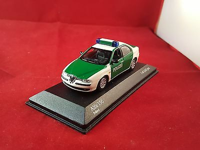 Alfa Romeo 156 Polizei 1997 Minichamps Neutral Box 1:43 433120790 Modellino