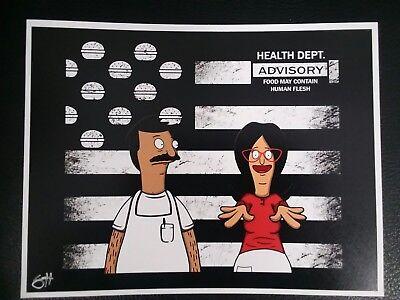 Bobs Burgers Bob and Linda Outkast album parody Art print 8.5x11 artist signed