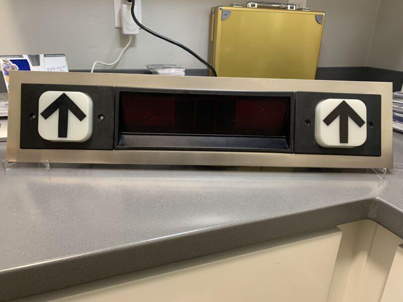 Vintage Dover Impulse Elevator Hallway Floor Position Indicator Panel 24vdc DMC