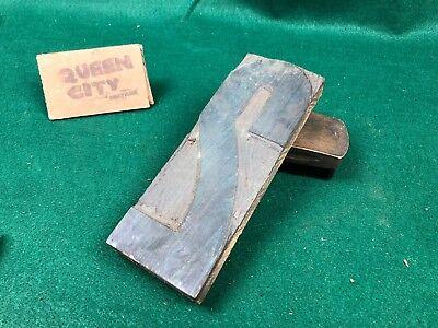 Vintage Wood Large Letterpress Print Block Number 2 Industrial Decor