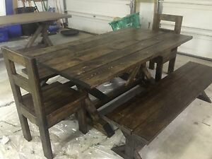 Rustic tables benches and chairs Peterborough Peterborough Area image 1