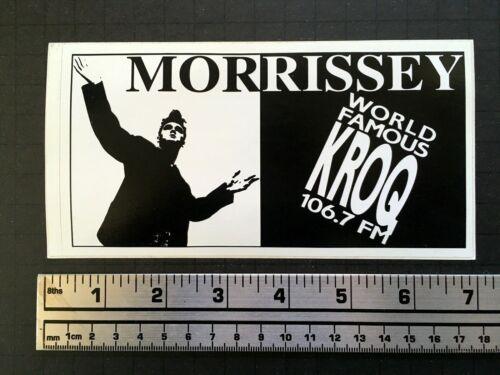 MORRISSEY KROQ vinyl bumper sticker 90s radio station 106.7 Los Angeles RARE