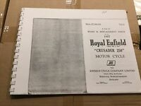 Royal Enfield 1957 Crusader 250 Parti Elenco .137 (3-54) -  - ebay.it